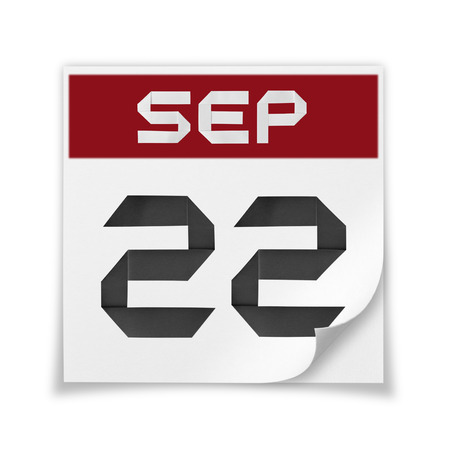 Calendar of September 22, on a white background.