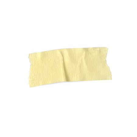tear duct: Yellow masking tape on a white background with clipping paths.