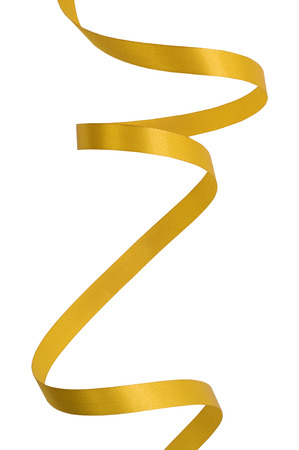 Yellow Gold ribbon on a white background