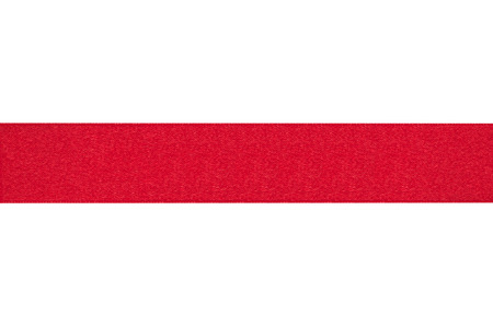 Red ribbon on a white background