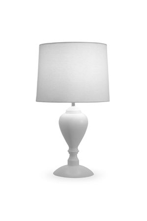 Modern table white lamp marble calico on a white background