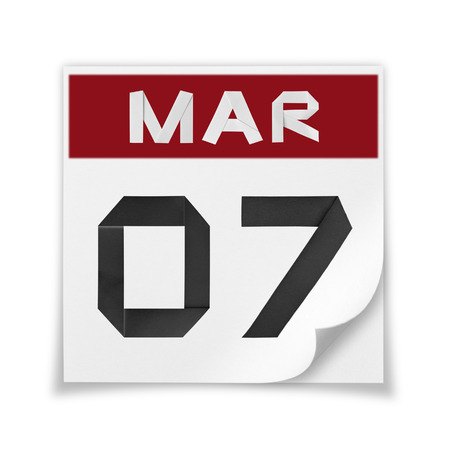 Calendar of March 7, on a white background.