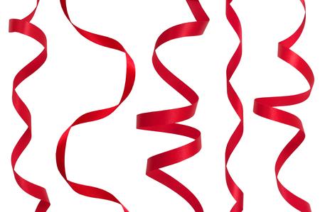 Fita vermelha sobre um fundo branco Foto de archivo - 55882060