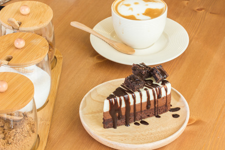 brownie: Chocolate Brownie Stock Photo