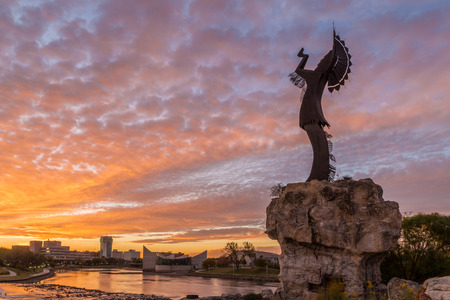 Keeper of the Plains in Wichita, Kansas. Stock Photo