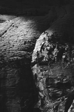 Dramatic Light on Zion Canyon Wall
