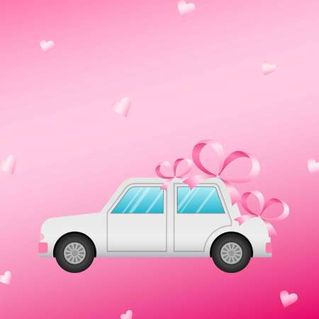 Wedding car. Vector illustration