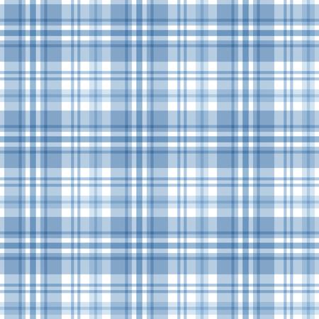 t square: Blue tartan seamless pattern. Vector background
