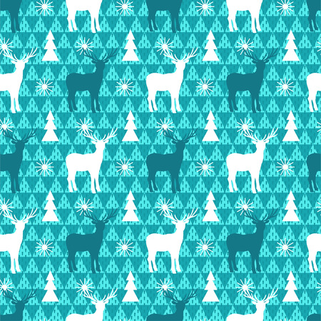 Winter seamless pattern. Christmas vector background Illustration
