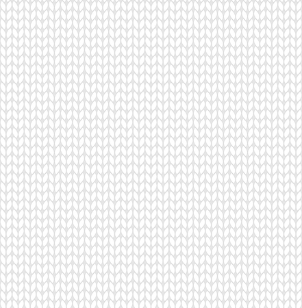 White knitted texture. Seamless pattern. Vector background