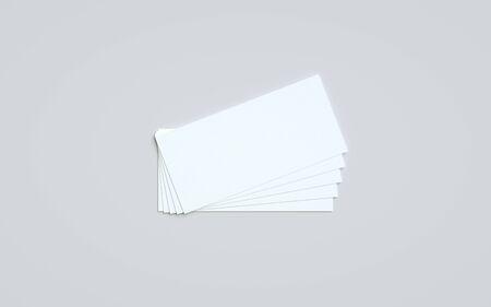 DL Flyer / Invitation Mock-Up - Multiple Flyers. 3D Illustration