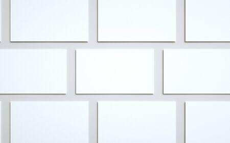 Business Card Mock-Up (US 3.5 x 2) - Multiple Tiled Cards. 3D Illustration Banque d'images