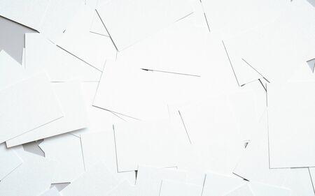 Business Card Mock-Up (US 3.5 x 2) - Pile of Cards. 3D Illustration Banque d'images