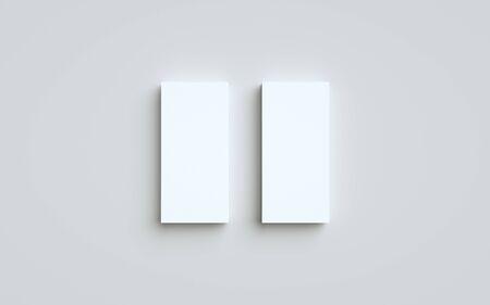 DL Flyer / Invitation Mock-Up - Two Stacks. 3D Illustration