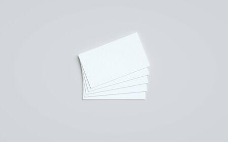 Business Card Mock-Up (US 3.5 x 2) - One Stack of Cards. 3D Illustration