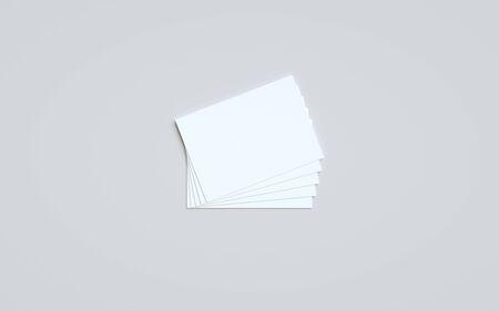 A6 Flyer / Postcard / Invitation Mock-Up - Multiple Flyers. 3D Illustration Banque d'images