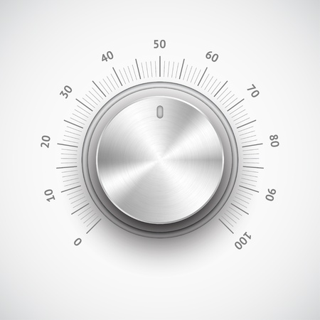 Chrome volume knob Stock Vector - 13616215