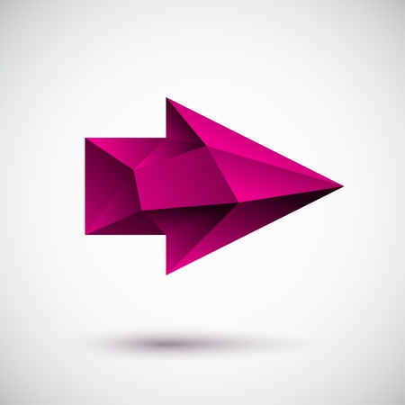 Faced magenta right arrow Vector