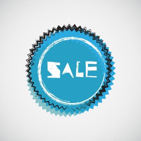 Grunge cyan badge  Illustration