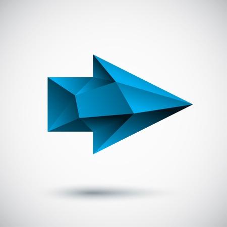 Faced cyan right arrow Illustration