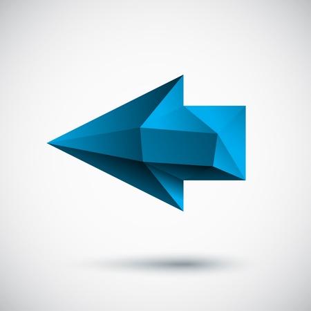 arrow right: Faced ciano freccia sinistra