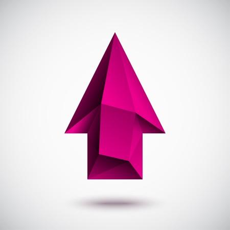 上向きの矢印は明るい背景と 3 d のマゼンタ  イラスト・ベクター素材