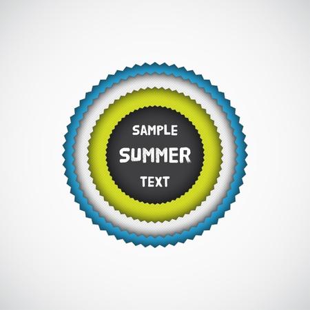 Letní barevné hvězda odznak s textury Vektorové ilustrace