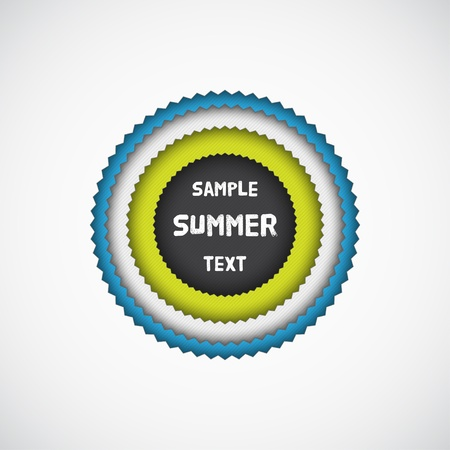 Summer colorful star badge with texture  Vector illustration