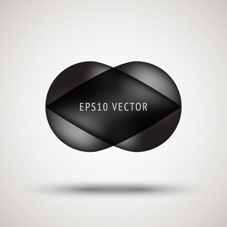Luxury black bubble badge with light background