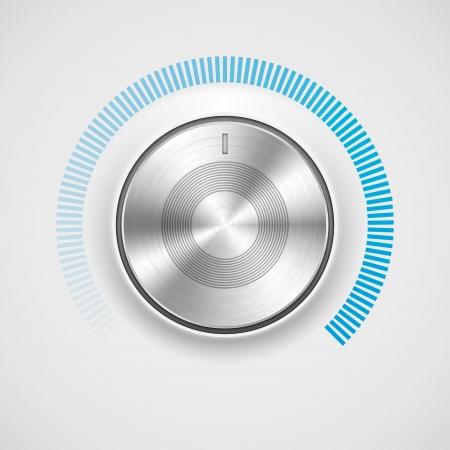 クロムと金属の質感は、ボリュームノブ ボタン音楽