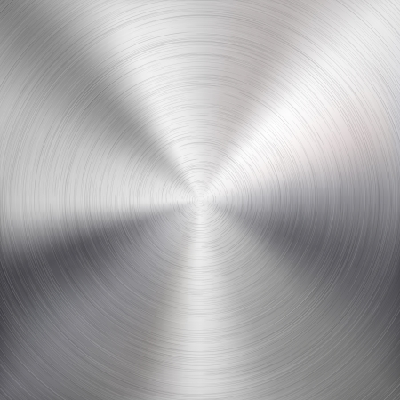 円形の金属クロム、鉄、ステンレス鋼、インター ネット サイトの銀のブラシをかけられたテクスチャと背景は、web ユーザー インターフェイス ui お