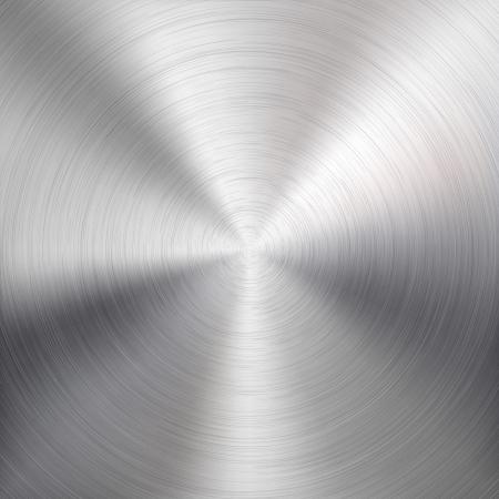 Fondo con la circular del metal del cromo, hierro, acero inoxidable, plata cepillado textura de los sitios web de Internet, las interfaces de usuario y aplicaciones ui ilustración vectorial aplicaciones