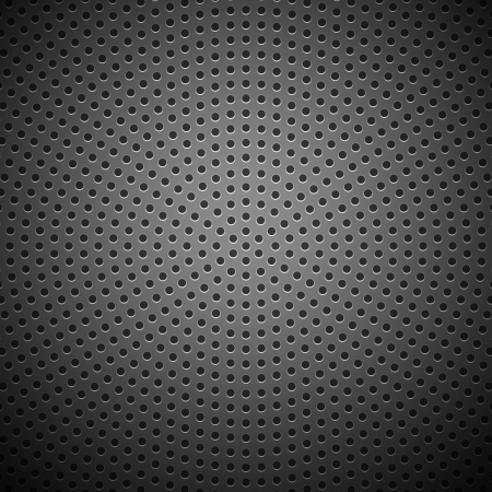 Technology background with seamless circle perforated carbon speaker grill texture for internet sites, web user interfaces  ui  and applications  apps   Vector Pattern Stock Vector - 17319164