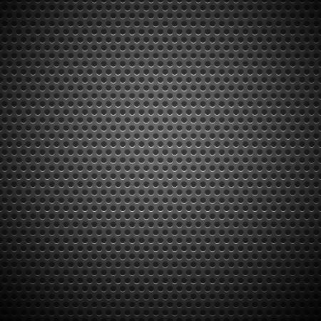 Technologické zázemí s bezešvé kruhu perforovaným uhlík reproduktor gril textury pro internetové stránky, web uživatelské rozhraní ui a aplikace apps Vector Pattern