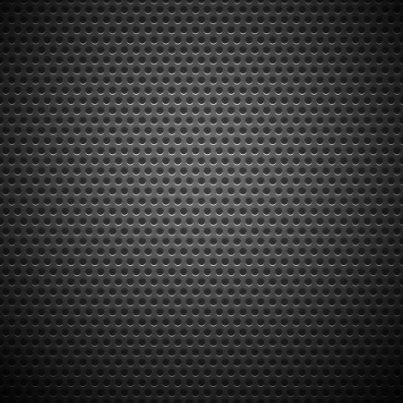Technology background with seamless circle perforated carbon speaker grill texture for internet sites, web user interfaces  ui  and applications  apps   Vector Pattern Vector