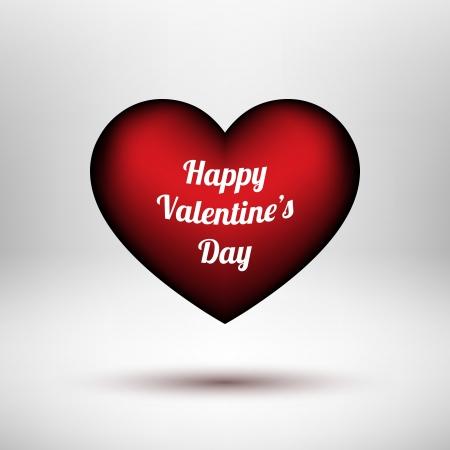 D�a de San Valent�n s Red coraz�n 14ty febrero con el fondo luces y sombras para p�ginas web, interfaces de usuario interfaz de usuario y las aplicaciones de ilustraci�n aplicaciones