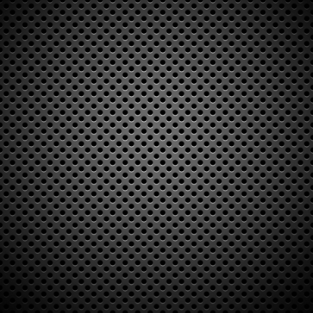Technology background with seamless circle perforated carbon speaker grill texture for internet sites, web user interfaces  ui  and applications  apps   Pattern Ilustrace