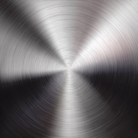 Fondo circular de metal con textura realista cepillado cromo, hierro, acero inoxidable, plata para los sitios de Internet, las interfaces de usuario web ui y aplicaciones de ilustraci�n vectorial aplicaciones de dise�o Vectores