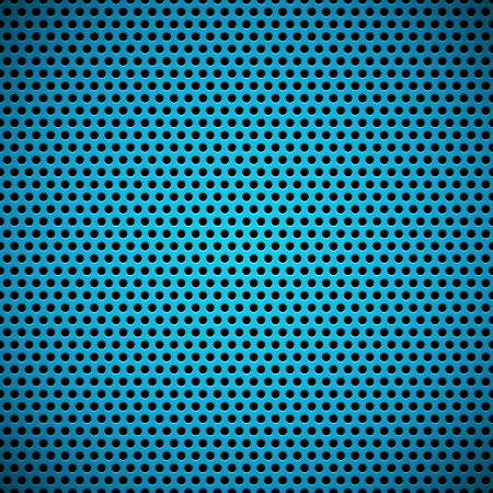 Blue technology background with seamless circle perforated plastic (carbon) speaker grill texture Ilustrace