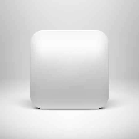 Technology white blank app icon