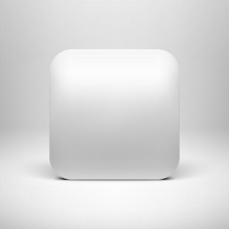 Technology white blank app icon Reklamní fotografie - 18438615