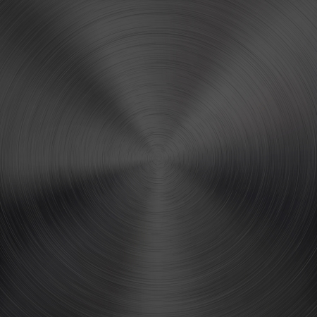 radial: Black metal background with realistic circular brushed texture  chrome, iron, stainless steel, silver  for internet sites, web user interfaces  ui  and applications  apps design illustration