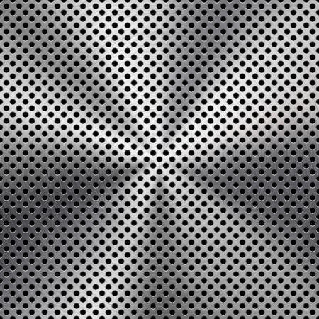 Fondo del metal con la circular realistas sin costura cromo cepillado textura, hierro, acero inoxidable, plata para las interfaces de usuario de interfaz de usuario, las aplicaciones y las aplicaciones de negocios presentaciones ilustraci�n dise�ar Vectores