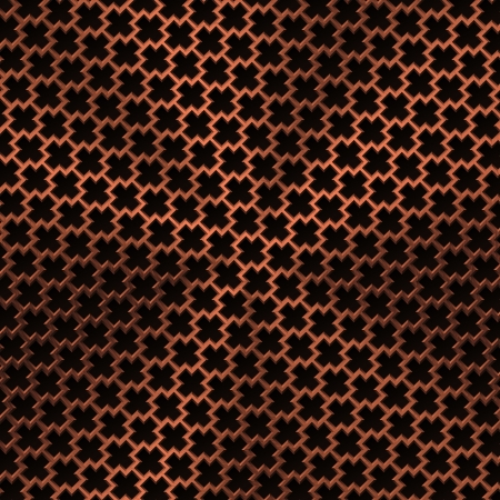 durable: Technology background with bronze metal texture (chrome, silver, steel, iron, copper) and seamless perforated lozenge pattern for user interfaces (UI), applications (apps) and business presentations.