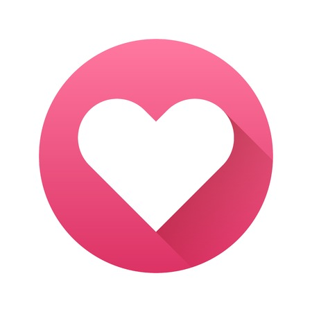 sign blank: White abstract Valentines heart sign, blank button template