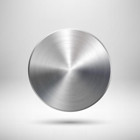Insignia abstracto del círculo, plantilla botón en blanco con la sombra realista y la luz de fondo para los sitios de Internet, interfaces de usuario web, interfaz de usuario, aplicaciones, aplicaciones y presentaciones de negocios