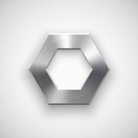 Pol�gono Extracto, insignia hexagonal, plantilla de botones con la sombra realista y la luz de fondo para los sitios de Internet, interfaces de usuario web, la interfaz de usuario, aplicaciones, aplicaciones y presentaciones de negocios.