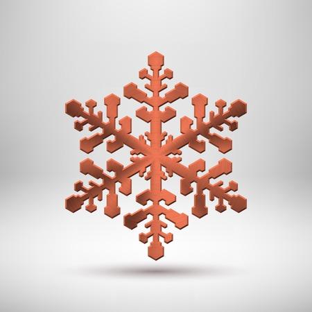 White abstract Christmas snowflake sign Illustration