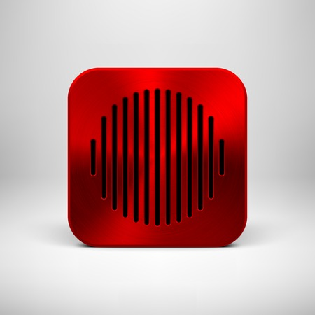 Red abstract technology app icon Vector