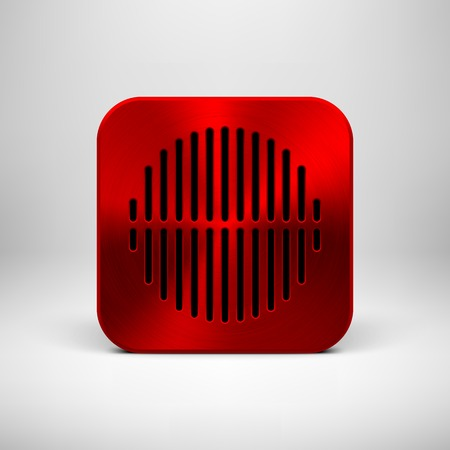 Red abstract technology app icon